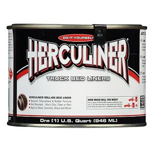 Herculiner 1 Quart Hcl1b7 Roll On Do It Yourself Virgin Rubber Truck Bed Liner