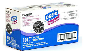 Dixie Perfectouch Domed Hot Paper Coffee Cup Plastic Lids 12 16 Oz Black 500 Ct