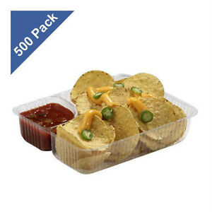 Gold Medal 500 Ct Nacho Trays 5 X 6 Cheese Chips Heavy Duty Concession Snacks