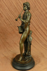French Bronze Military Statue Of A Drummer In Napoleon S Army Hot Cast Sculpture