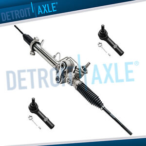 New Power Steering Rack Pinion 2 Outer Tie Rod For Chevy Gmc Cadillac