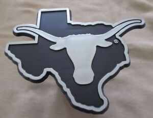 Texas Longhorns Trailer Hitch Cover Class Iii 2 Chrome Film Black