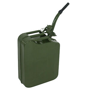 Jerry Can 5 Gallon 20l Fuel Army Nato Military Metal Steel Tank Prepper