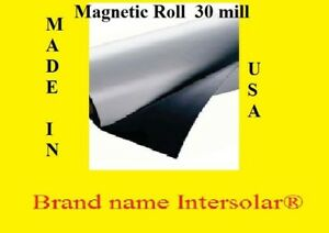 12 Width X50ft Roll 30 Mil Blank Magnetic Sign Sheet Best Quality Made In Usa