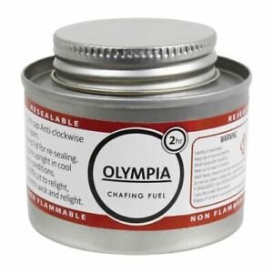 Olympia Liquid Chafing Fuel Food Warmer Easy To Open And Reseal 2 Hour Tins