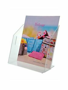 Clear Acrylic Desktop Brochure Holder Stand For 8 5 w Literature lot Of 12