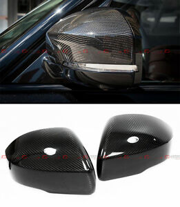 For 2013 2017 Range Rover L405 Carbon Fiber Side Mirror Cover Caps Overlay Pair