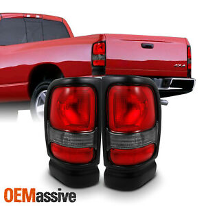 Fit 1994 2002 Dodge Ram 1500 2500 3500 Truck Red Clear Tail Lights Replacement