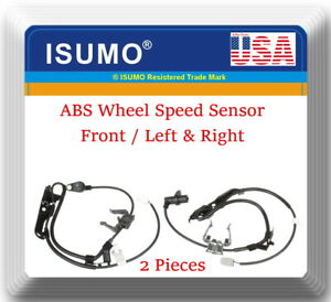 Abs Speed Sensor 2pcs Front Left Right Fits lexus Es350 Toyota Camry 2007 2011