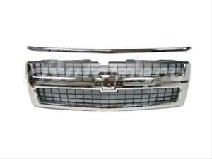 For 2007 2010 Chevy Silverado 2500hd 3500 Grille Chrome Hood Molding 2pc