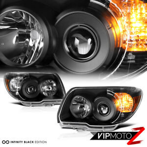 For 06 09 Toyota 4runner 4 Runner trd Style Crystal Black Headlights Assembly
