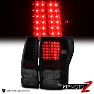 For 07 13 Toyota Tundra trd Style Sinister Black Rear Led Brake Tail Lights