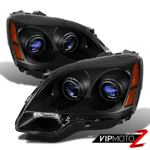 2007 2011 Gmc Acadia Sl Sle Denali Black Front Headlights Left Right Assembly