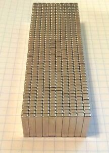 100 Neodymium Magnets 3 4 X 3 16 X 1 8 Super Strong Rare Earth Magnets N52