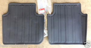 Genuine Oem Honda Accord 4dr Black Rear All Season Floor Mat Set 2