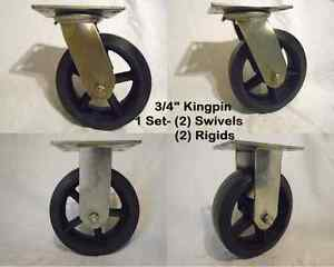 8 X 2 1 2 Swivel Caster Rubber On Steel Wheel Rigid 850lb Ea Tool Box