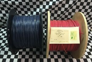 Lot Of 2 Wire 12 Awg 1000ft Each Mil w 67 Color Red Blue M323 2 Cma 536