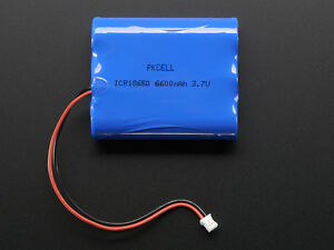 Lithium Ion Polymer Cylindrical 3 7v Rechargeable Battery 6600mah Lipo Arduino