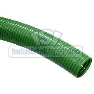 2 X 25ft Hd Green Super Flexible Water Suction Hose W o Fittings