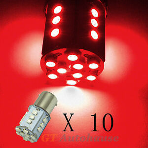 10pcs 1156 24 smd Red Replacement Led Bulbs Stop Tail Lights 1073 1093 s2r 10
