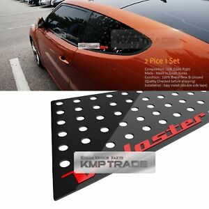 C Pillar Window Glass Sports Plate Molding 1p Red For Hyundai 2011 2017 Veloster