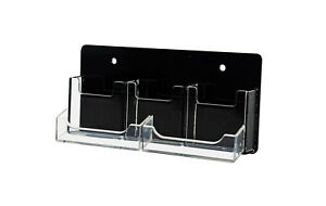 Clear Black 5 Pocket Business Card Holder Wall Mounted Lot Of 12