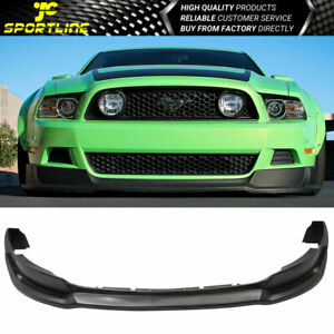 Fits 2013 2014 Ford Mustang V8 V6 Gt Rtr Style Front Bumper Lip Spoiler Pu