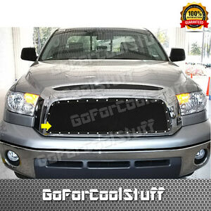 For Toyota Tundra 2007 2008 2009 Steel Black Upper Mesh Grille Grill Insert Bolt