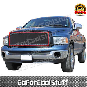 For 2002 2003 2004 2005 Dodge Ram 1500 Steel Black Mesh Grille Grill Insert