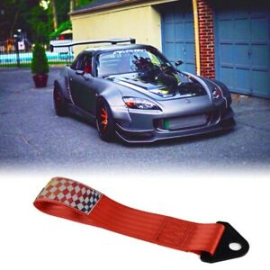 Red Racing Tow Strap For Towing Jdm Usdm Kdm 10 000 Lb Rati