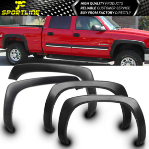 Fits 99 2006 Chevy Silverado Oe Factory Style Fender Flares Wheel Cover Black Pp