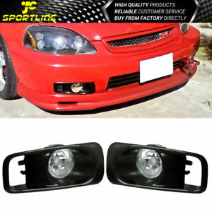 Fits 99 00 Ek Jdm Driving Fog Lights With Switch Clear Lens Pair Honda Civic
