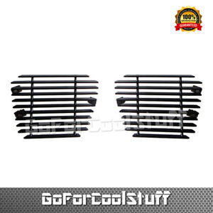 For Chevy Suburban Tahoe Fits 2007 2012 Black Bumper Billet Grille Grill Insert