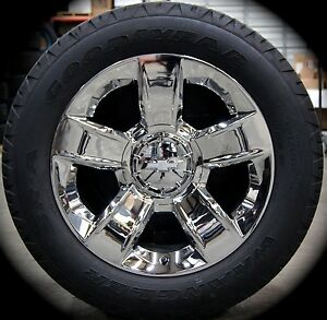 New 2017 Chevy Tahoe Suburban 20 Chrome Factory Oem Wheels Rims Goodyear Tires