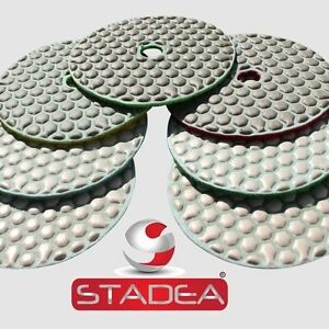 Stadea 4 Diamond Dry Concrete Stone Marble Granite Polishing Pads 8 1 Set Kit