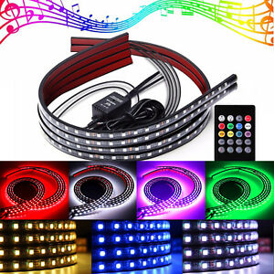 Led Underbody Kit 8 Color Under Car Glow System Neon Lights Kit 48