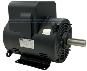 5 Hp Compressor Duty Electric Motor 21 Amp 3450 Rpm 56 Frame 7 8 Shaft 230vac