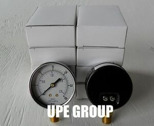 10 Pack Pressure Gauges Hydraulic Compressor 2 5 Dial 0 30 Psi Lower 1 4 Npt