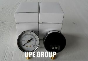 10 Pack Pressure Gauges Hydraulic Compressor 2 5 Dial 0 15 Psi Lower 1 4 Npt