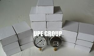25 Pack Liquid Filled Pressure Gauge Compressor 2 5 Dial 200 Psi Lower Mnt 1 4