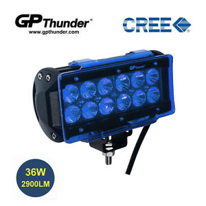 6 5 Inch Off Road 36w Cree Led Fog Lamp Work Light Bar Suv Jeep Drl Cover Blue