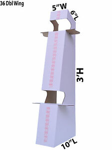 Lot Of 500 White Cardboard 36 Double Wing Easel White