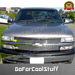 For 1999 2002 Chevy Silverado 1500 2 Pcs Upper Billet Grille Grill Insert