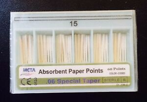 Dental Paper Points 06 Taper 15 10x Of 60 pack total 600pieces meta