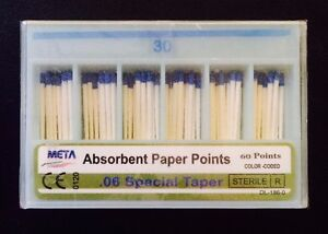 Dental Paper Points 06 Taper 30 10x Of 60 pack total 600pieces meta