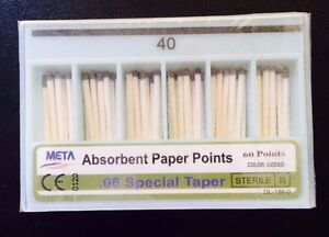 Dental Paper Points 06 Taper 40 10x Of 60 pack total 600pieces meta