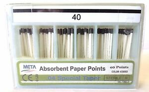 Dental Paper Points 04 Taper 40 10x Of 60 pack total 600pieces meta