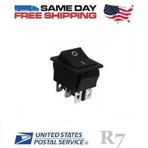 Dpdt Double Pole Double Throw 6 pin on on 20amp Rocker Switch
