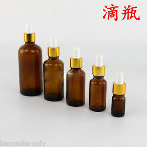 Lab Glass Dropper Bottle Drop Reagent Lab 30ml Amber one New