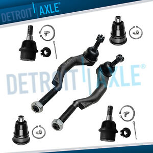 6pc Front Ball Joints Tie Rods For 03 07 Chevy Trailblazer Gmc Envoy Saab 9 7x